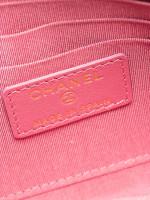 CHANEL Caviar Timeless CC Zip Wallet Pink