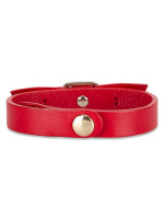 SALVATORE FERRAGAMO Vara Bow Leather Bracelet Red