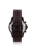FOSSIL Men FS5601 Bowman Chronograph Leather Strap Brown