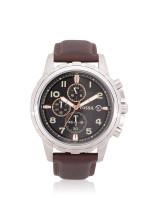 FOSSIL Men FS4828 Dean Chronograph Leather Strap Brown