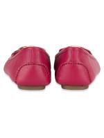 MICHAEL KORS Lillie Leather Flats Berry Sz 8
