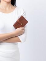 FOSSIL SWL2380210 Myra Multi Leather Wallet Medium Brown