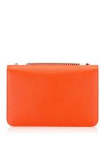GUCCI Dollar Calfskin Interlocking G Shoulder Bag Orange
