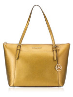 MICHAEL KORS Ciara Large Saffiano Top Zip Tote Old Gold