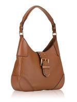 MICHAEL KORS Lillian Leather Medium Shoulder Bag Luggage