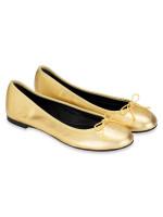 YSL Dance Nappa Ballet Flats Gold Sz 36