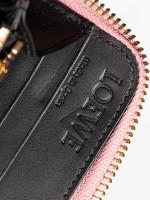 LOEWE Anagram Leather Zip Wallet Pink