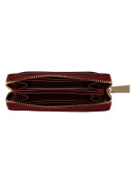 MICHAEL KORS Jet Set Leather Small Zip Around Card Case Wallet Brandy