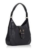 MICHAEL KORS Lillian Leather Medium Shoulder Bag Black