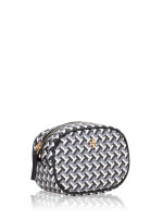 TORY BURCH Tile Tzag Allover Cosmetic Pouch Black