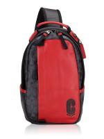 COACH Men 598 Signature Colorblock Edge Park Sling Pack Sport Red Charcoal