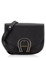 AIGNER Pina Mini Leather Crossbody Black