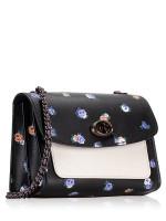 COACH 76124 Vintage Rosebud Parker 18 Black Multi