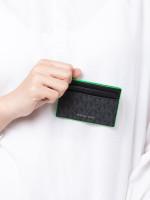 MICHAEL KORS Men Signature Card Case With ID Black Palm
