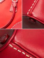 PRADA B1801K Tessuto Saffiano Double Zip Tote Rosso
