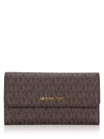 MICHAEL KORS Jet Set Monogram Large Trifold Wallet Mandarin