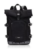 MICHAEL KORS Men Kent Nylon Roll Top Backpack Black