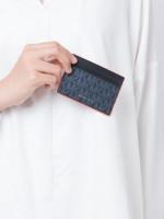 MICHAEL KORS Men Signature Card Case With ID Admiral Bright Orange