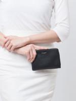 SAINT LAURENT Grain de Poudre Wallet with Key Holder Black