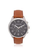 MICHAEL KORS Men MK8661 Merrick Leather Chronograph Brown Black