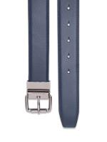 MICHAEL KORS Men 4 In 1 Leather Belt Box Set Navy Black