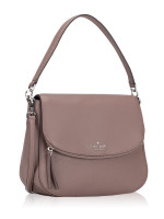 KATE SPADE Jackson Medium Flap Shoulder Bag Brownstone