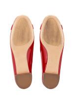 SALVATORE FERRAGAMO Patent Leather Garda 10 Flats Red Sz 5.5