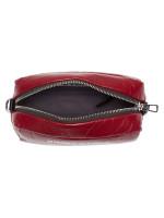 BIMBA Y LOLA Leather Rectangular Crossbody Dark Red