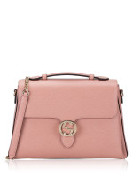 GUCCI Dollar Interlocking Medium Shoulder Bag Pink