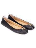 MICHAEL KORS Hampton Leather Ballet Flats Black Sz 7.5