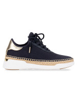 MICHAEL KORS Finch Canvas Lace Up Sneaker Admiral Sz 5