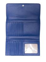 MICHAEL KORS Jet Set Travel Large Trifold Wallet Sapphire