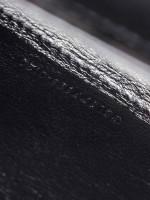 YSL Grain De Poudre Matelasse Monogram Chain Wallet All Black