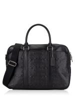 COACH Men 72230 Signature Perry Slim Brief Shoulder Bag Black
