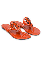TORY BURCH Miler Leather Thong Orange Sz 6.5