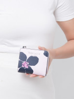 KATE SPADE Cameron Grand Flora Small L-Zip Bifold Wallet Serendipity Pink Multi