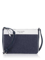 KATE SPADE Cameron Colorblock Medium Top Zip Crossbody Denim Multi