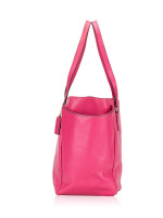 COACH 35702 Crossgrain Leather Diaper Bag Dahlia Pink