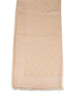 LOUIS VUITTON Monogram Silk and Wool Shawl Dune