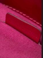 BURBERRY Patent Check Embossed Medium Bilmore Tote Red