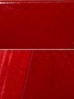 GUCCI Patent Microguccissima Small Broadway Clutch Red