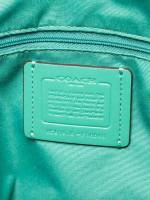 COACH 58846 Crossgrain Leather City Zip Tote Green