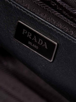 PRADA BN2762 City Calf Twin Pocket Satchel Nero