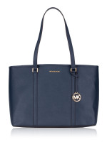MICHAEL KORS Sady Large Multifunction Top Zip Tote Navy