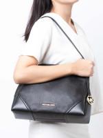 MICHAEL KORS Nicole Leather Large Shoulder Bag Black