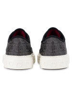 SALVATORE FERRAGAMO Men Anson Gancini Print Low-top Sneakers Grey Sz 7.5