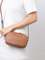MICHAEL KORS Fulton Leather Double Zip Crossbody Luggage