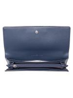 MICHAEL KORS Jet Set Travel Leather Carryall Wallet Navy