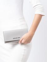 MICHAEL KORS Jet Set Travel Leather Carryall Wallet Pearl Grey