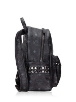 MCM Visetos Stark Mini Backpack Black